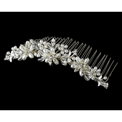 Pearl & Crystal Bridal Comb in Gold or Silver