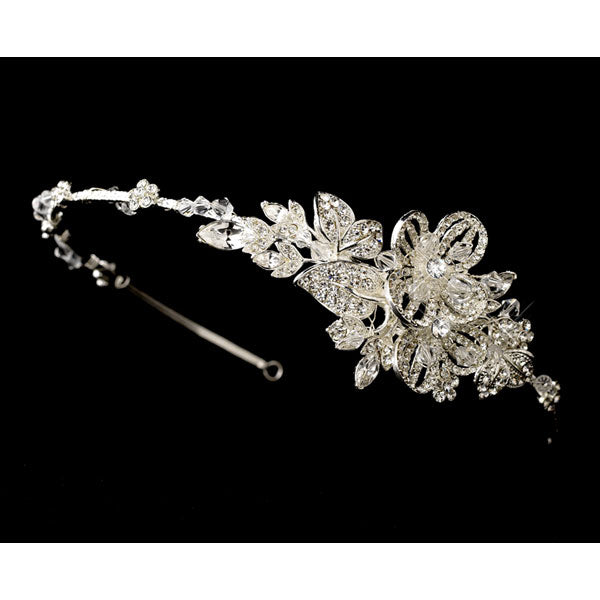 Beautiful Crystal Side Accented Bridal Headband
