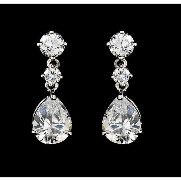 Elegant Cubic Zirconia Earrings