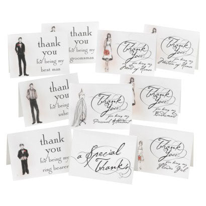Bridal Party Thank You Cards ( Set of 30)