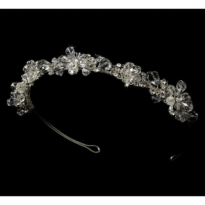 Beautiful Swarovski Crystal Tiara Band - Silver or Gold