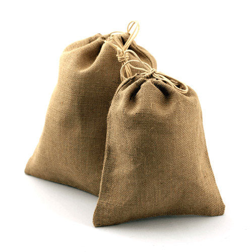 Burlap Favor Bags Drawstring Bag 10 x 14