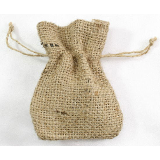 Burlap Favor Bags Drawstring Bag Natural 3 x 4