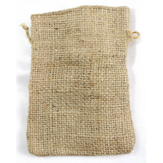 Burlap Favor Bags Drawstring Bag Natural 4 x 5