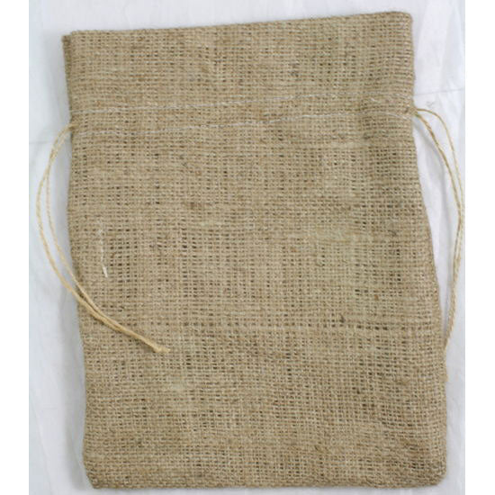 Burlap Favor Bag Drawstring Bag Natural 8 x 10