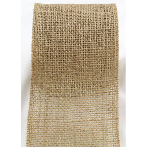 9 Inches Wide Burlap Ribbon Natural color High Quality 10 Yard
