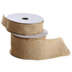 Burlap Ribbon Natural color 2.5 inch 10 Yard