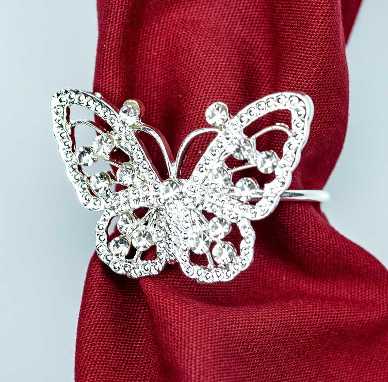 Butterfly Napkin Rings Set of 4 Napkin Holders