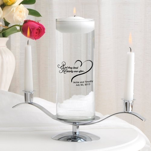 Engraved Floating Unity candle and Stands