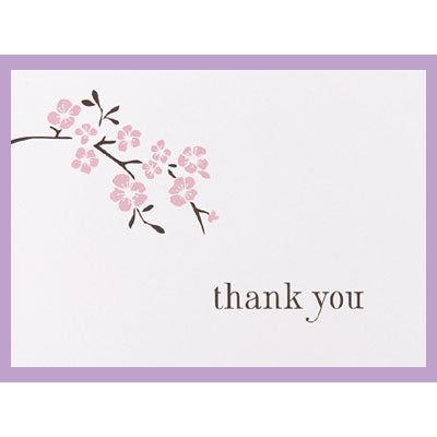 Cherry Blossom Thank You Cards Wedding Thank You Notes (50)