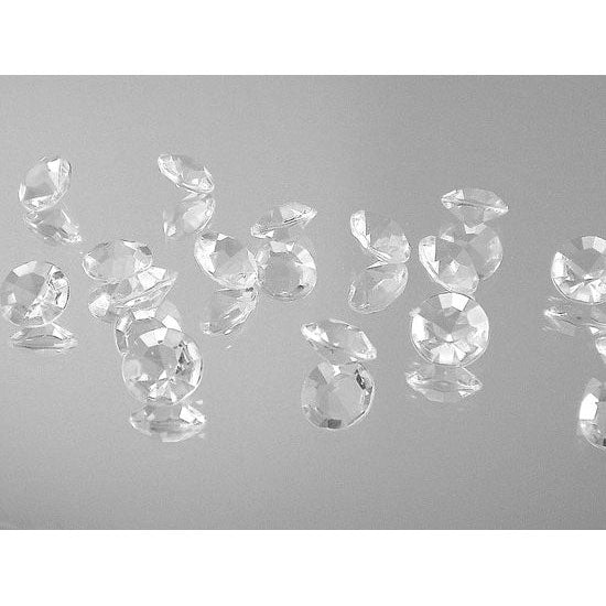 Clear Diamond Confetti Decorations 1 Carat ( Pack of 2000 )