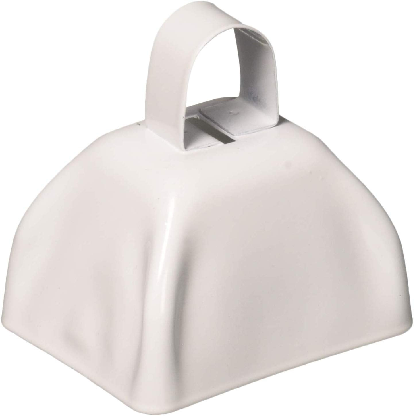 3 inch White Metal Cowbells Pack of 12 Party Favors