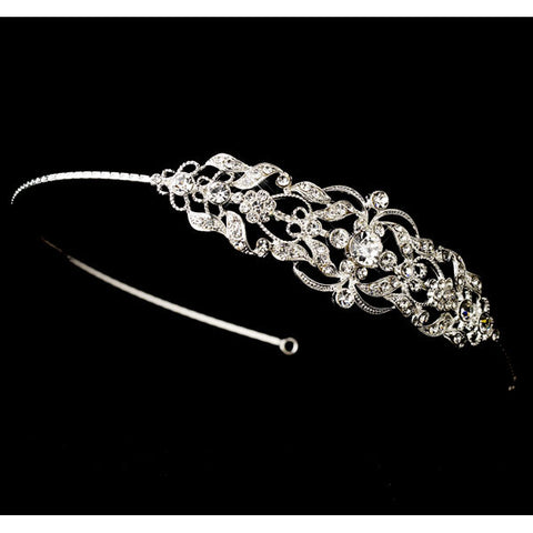 Silver Clear Headpiece Headband
