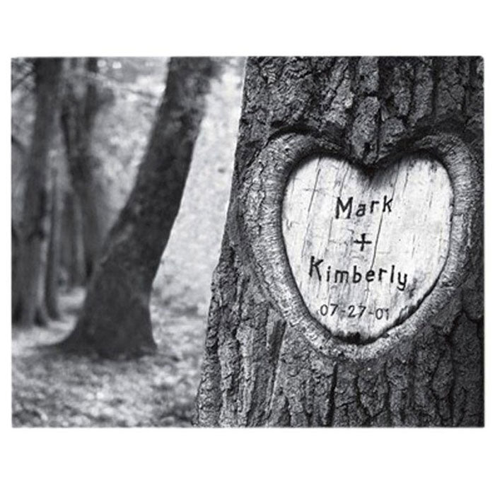 Engraved Tree of Love Print Canvas