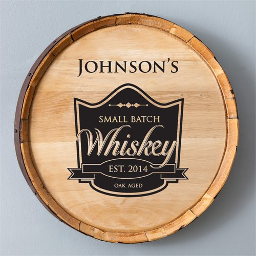 Engraved Whiskey Barrel Sign