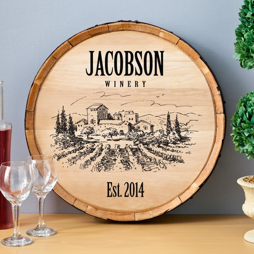 Personalized Wine Barrel Sign  Home Decor