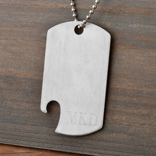 Engraved Dog Tag Bottle Opener