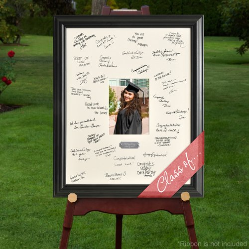 Engraved Graduation Guest Signature Picture Frame