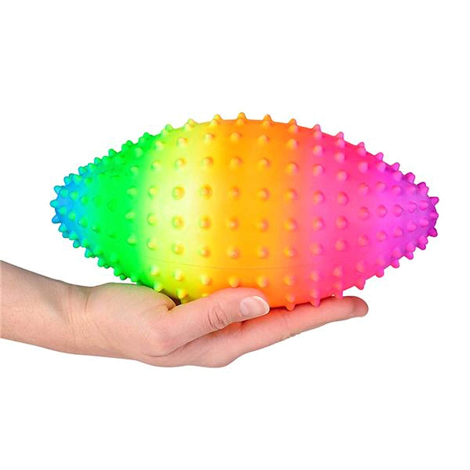Rainbow Knobby Football 9 inch
