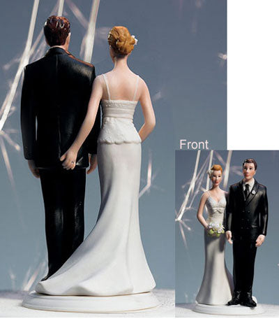 Funny Wedding Cake Toppers Bride PINCH Groom BUTT Sexy