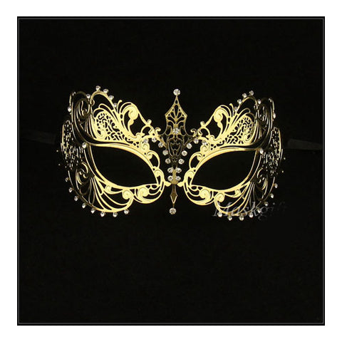 Gold His and Her Masquerade Masks -  Bestselling Gold Couple Masks Set