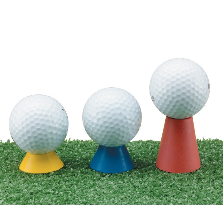 Set of 3 Multicolor Rubber Tees Winter Golf Practice Tees Accessories Golfer