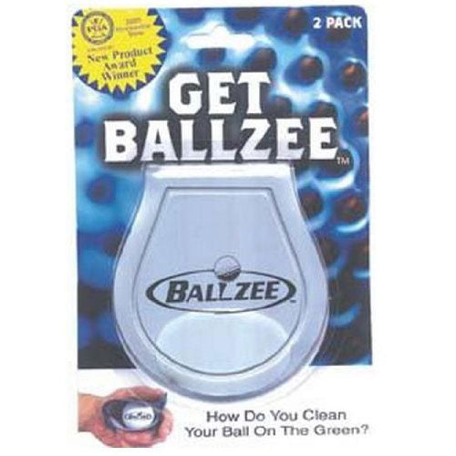 BALLZEE 2 piece BLISTER PACK Clean Golf Ball on the Green Golf tools