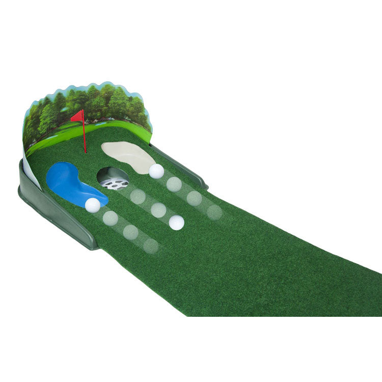 Super Sized Electric Putt N' Hazzard Putting Mat Golf Practice Aid