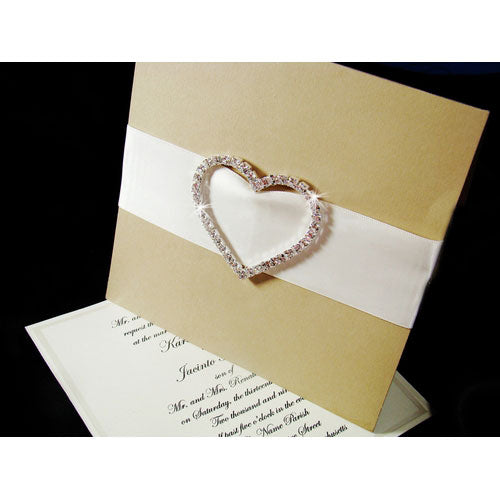 Heart Rhinestone Buckle for Invitation Embellisments