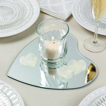 Heart Shaped Table Mirrors for Wedding Centerpiece (Pack of 3)