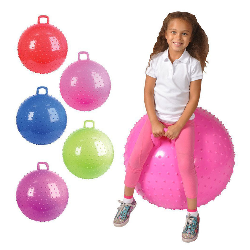 36 Inch Knobby Bouncy Ball with Handle Multiple Colors