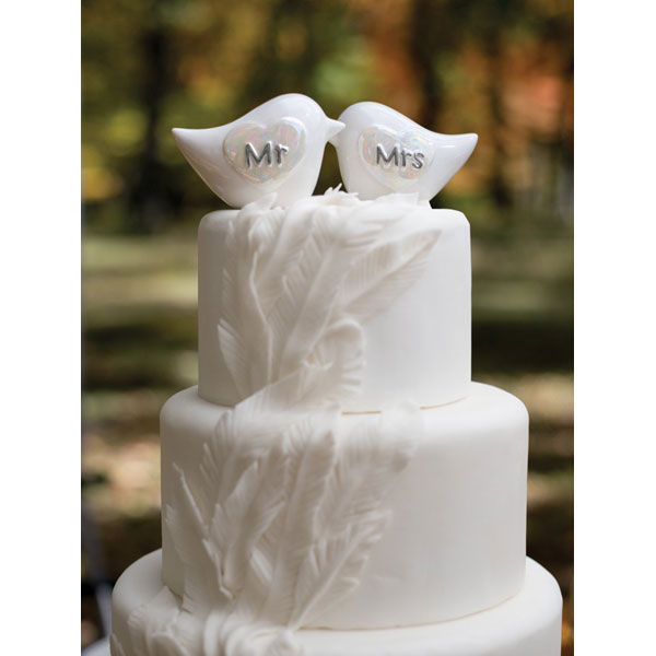 Love Birds Cake Topper Porcelain Cake Top