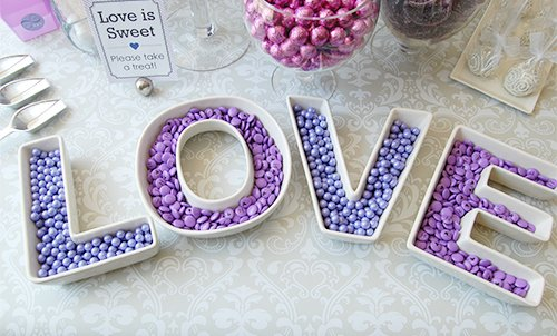 LOVE Plates Set Wedding Centerpiece Decorations