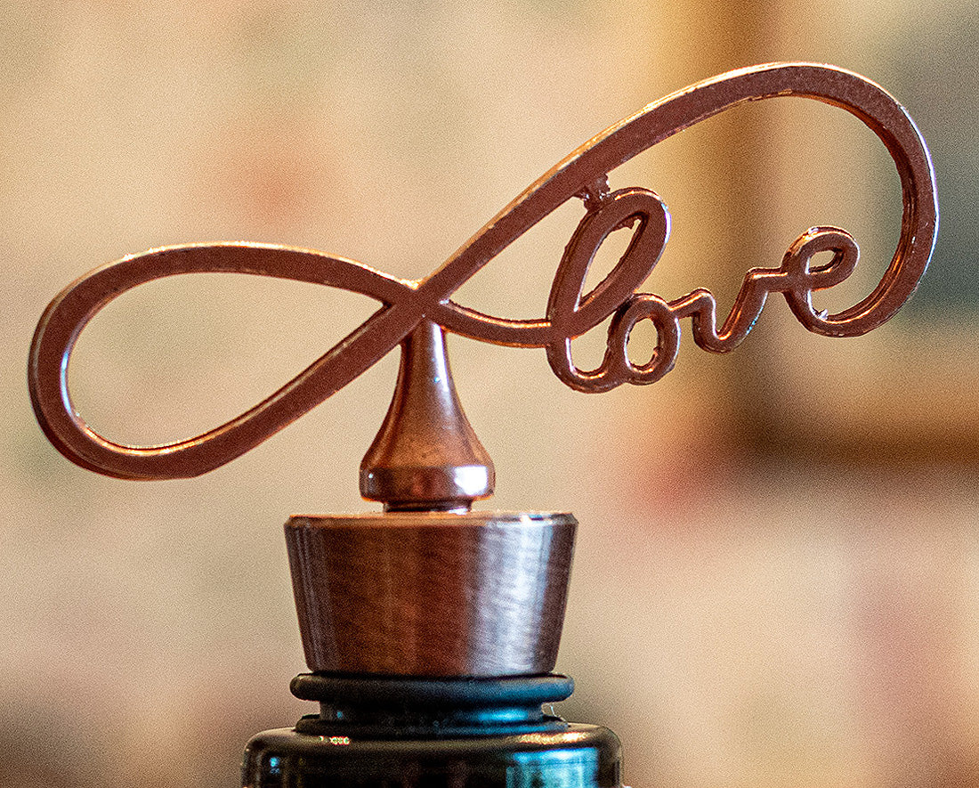 Copper Endless Love Bottle Stoppers Pack of 12 Wine Gifts Favors