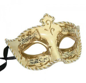 Medici Eye Gold & Ivory Music Masquerade Mask