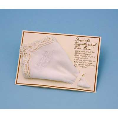 Mother of the Groom Handky Handkerchief (White or Ivory)