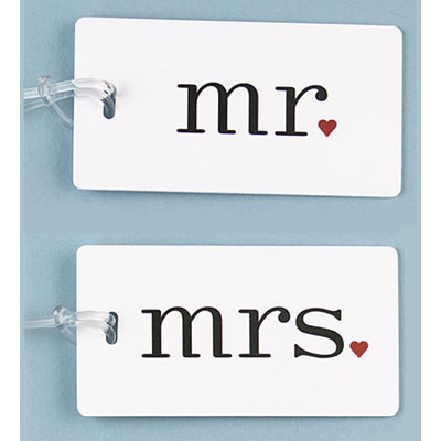 Mr and Mrs Luggage Tags Gift - Set of Two