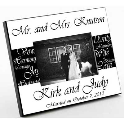 Mr. and Mrs. Personalized Wedding Frame Gift