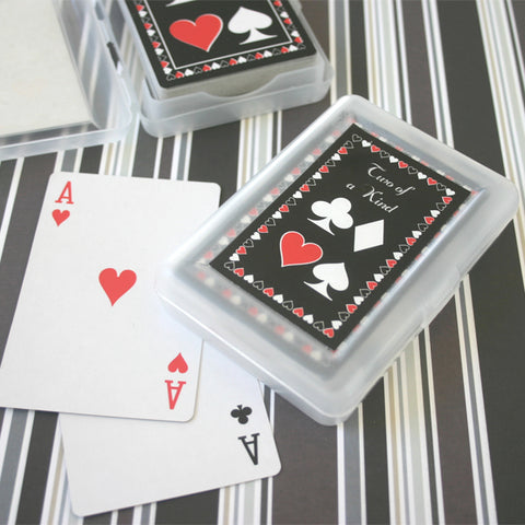 Las Vegas Wedding Favors - Personalized Two of a Kind Playing Cards