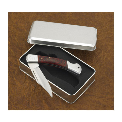 Engraved Yukon Lock Back Pocket Knife with Gift Box