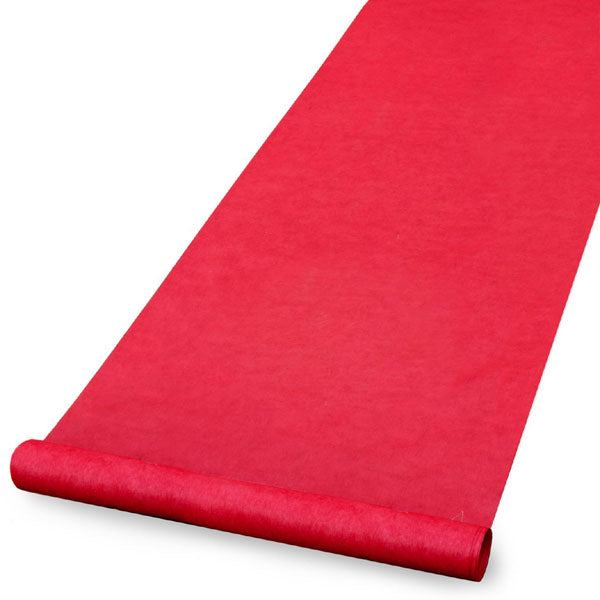 Elegant Red Wedding Aisle Runner 100 Feet Long