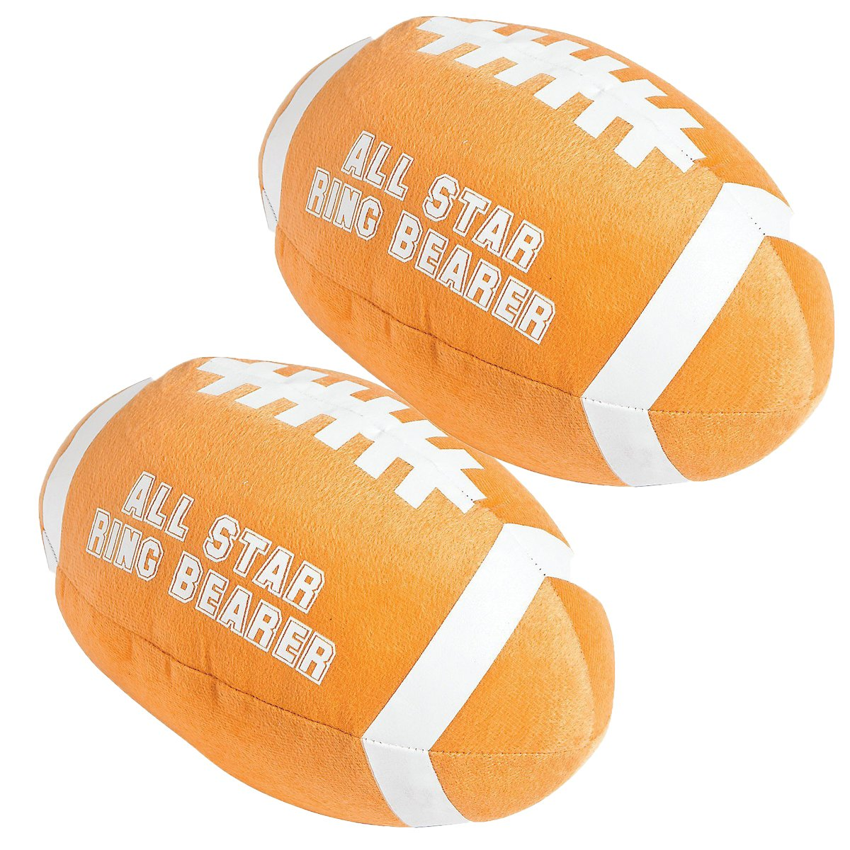 Plush All Star Ring Bearer Football Pack of 2 Wedding Ring Bearer Gifts
