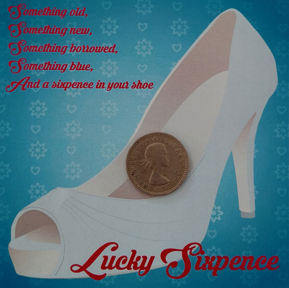 Lucky Sixpence For Bridal Shoe Silver Gift Boxed Wedding Gifts