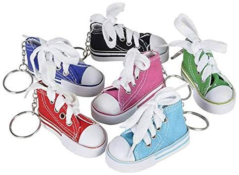 Sneaker Shoe Keychains Pack of 12 Party Favors