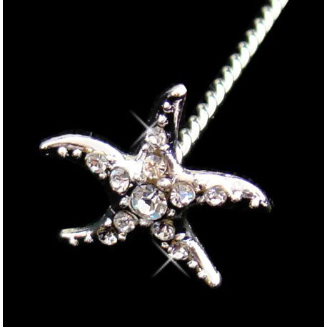Bouquet Jewelry Crystal Starfish Silver or Gold (Set of 2)