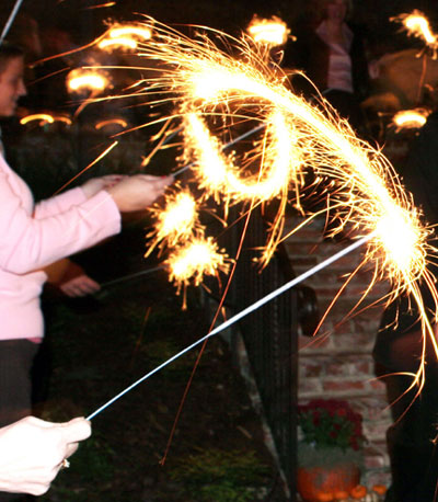 10 Inch Wedding Sparklers - Pack of 6