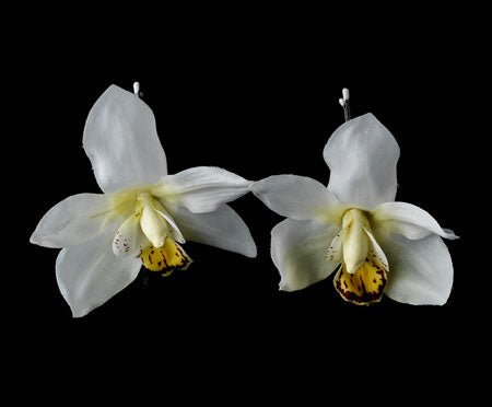 White Orchid Flower Bridal Hair Pin