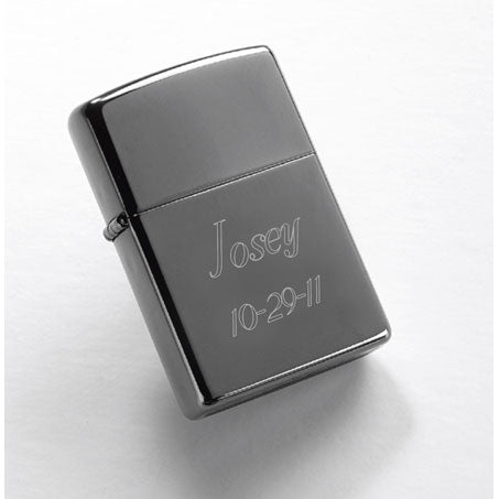 Personalized Zippo Black Ice Lighter
