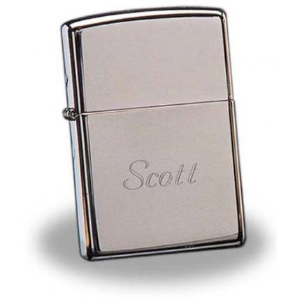 Engraved Zippo Chrome Lighter Gift