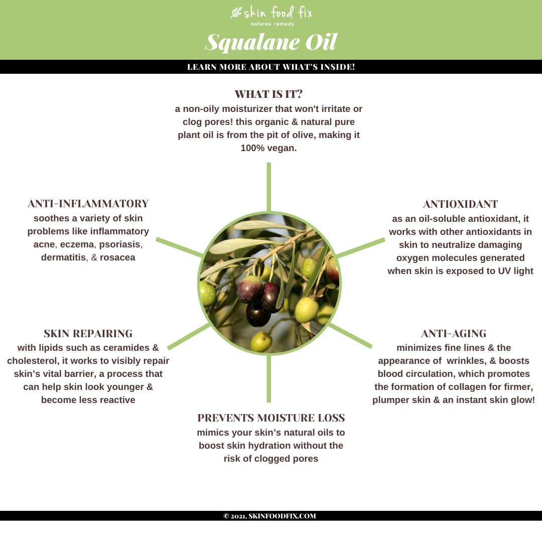 infographic about benefits of squalane oil
